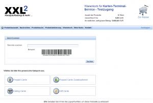 Startseite des XXL Online Portals
