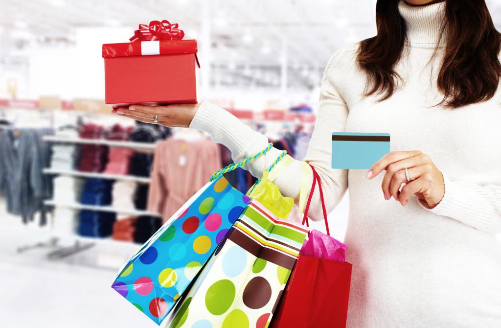 Einkaufen mit der Kreditkarte